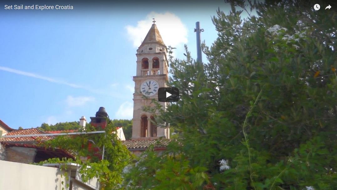 Яхтинг в Хорватии. видео